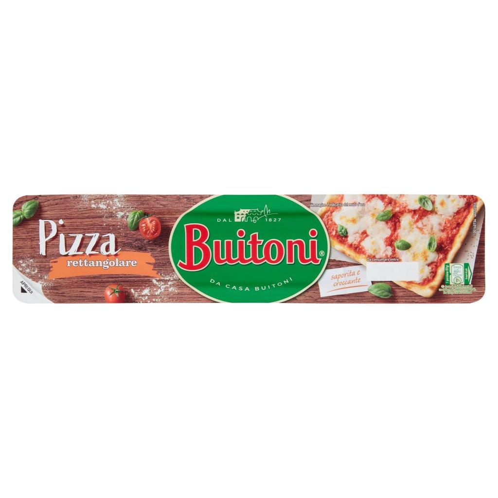 Buitoni Pizza Rettangolare Pasta per Pizza Fresca Stesa Rettangolare Rotolo Vaschetta 385 G 1