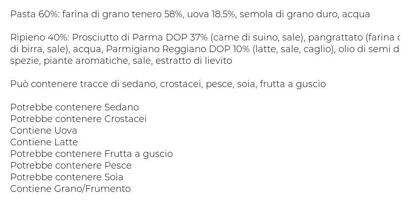 I Tesori Tortellini al Prosciutto di Parma