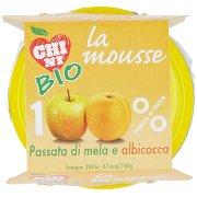Chini Bio la Mousse Passata di Mela e Albicocca 2 x 100 g