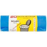 20 Sacchi Nettezza con Legaccio 50x60 30 Litri