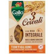 Gallo 3 Cereali con Riso Integrale Mais e Grano Saraceno Tortiglioni