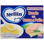 Mellin Brodo con Carne di Pollo 10 Bustine Monodose