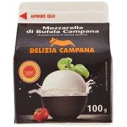 Delizia Campana Mozzarella di Bufala Campana 100 g Brik