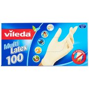 Vileda Guanti Multi Latex 7,5-8,5m/l 100 Pz