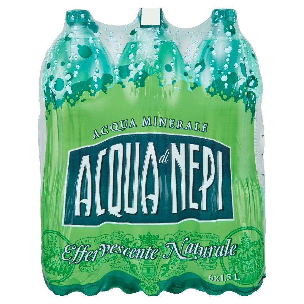 Acqua di Nepi Acqua Minerale Effervescente Naturale Pet 6 x 1,5 l Imballaggio 6 Bottiglie Da 1,5 L 1