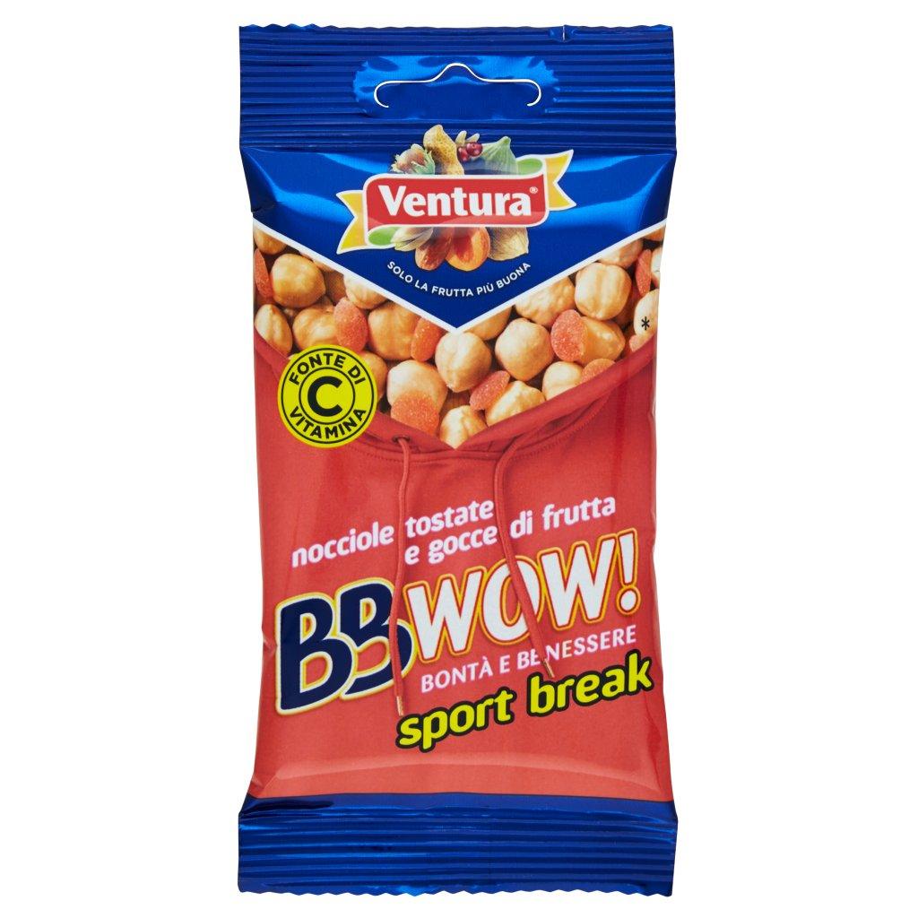 Ventura Bbwow! Sport Break Nocciole Tostate e Gocce di Frutta
