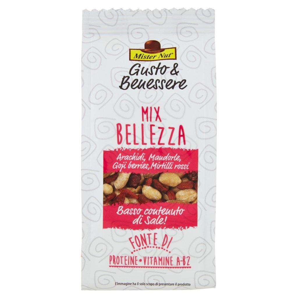 Mister Nut Gusto & Benessere Mix Bellezza Arachidi, Mandorle, Goji Berries, Mirtilli Rossi