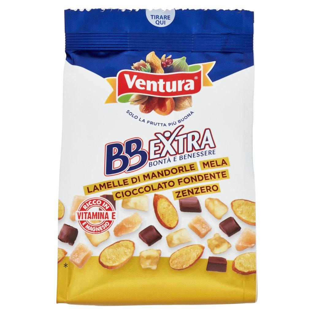 Ventura Bbextra Lamelle di Mandorle Mela Cioccolato Fondente Zenzero Confezione 150 G 1