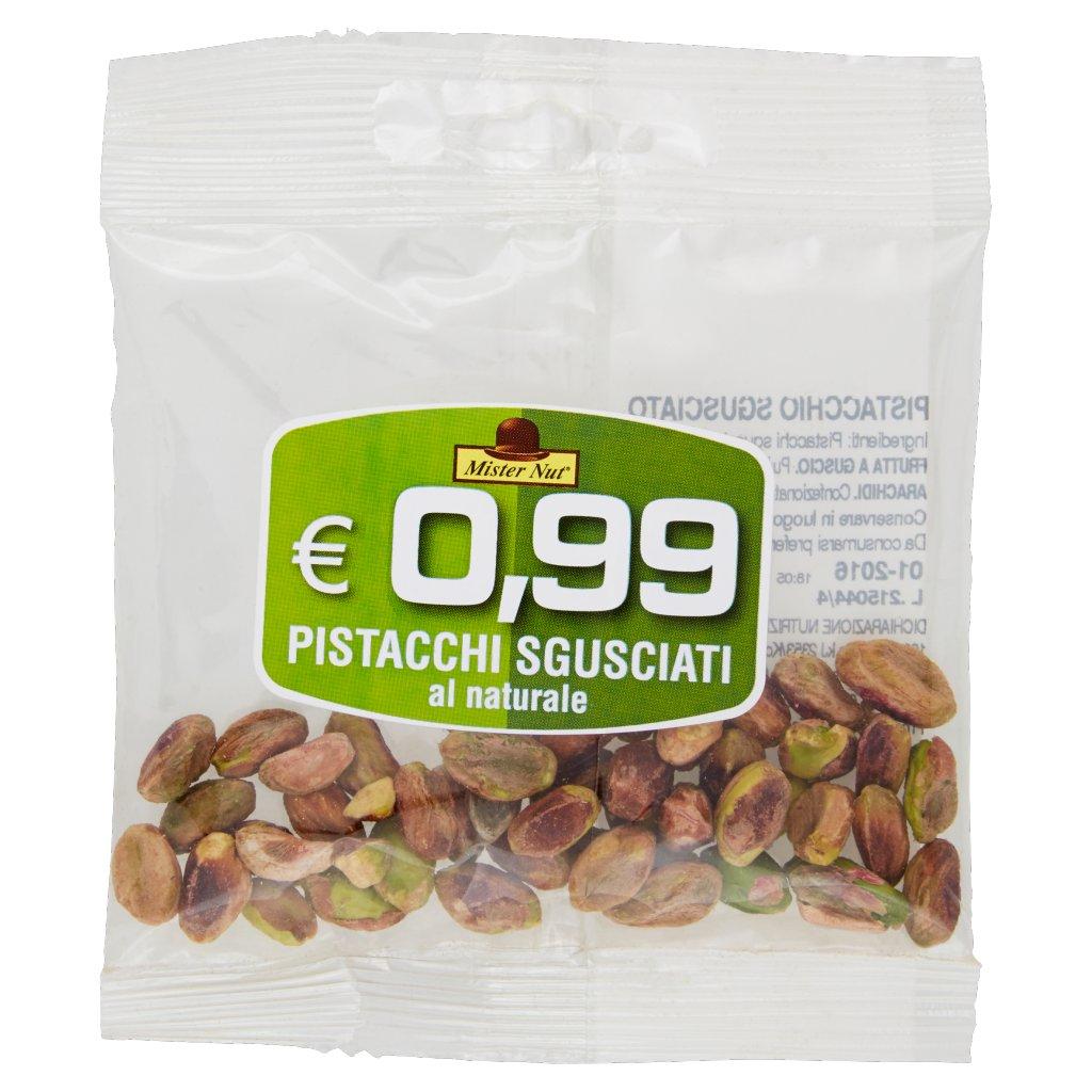 Mister Nut Pistacchi Sgusciati al Naturale Confezione 20 G 1