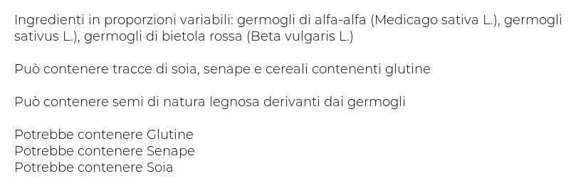 L'insalata dell'Orto Germogli Misti
