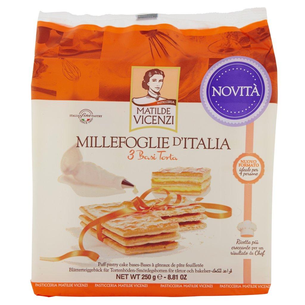 Pasticceria Matilde Vicenzi Millefoglie d'Italia 3 Basi per Torta