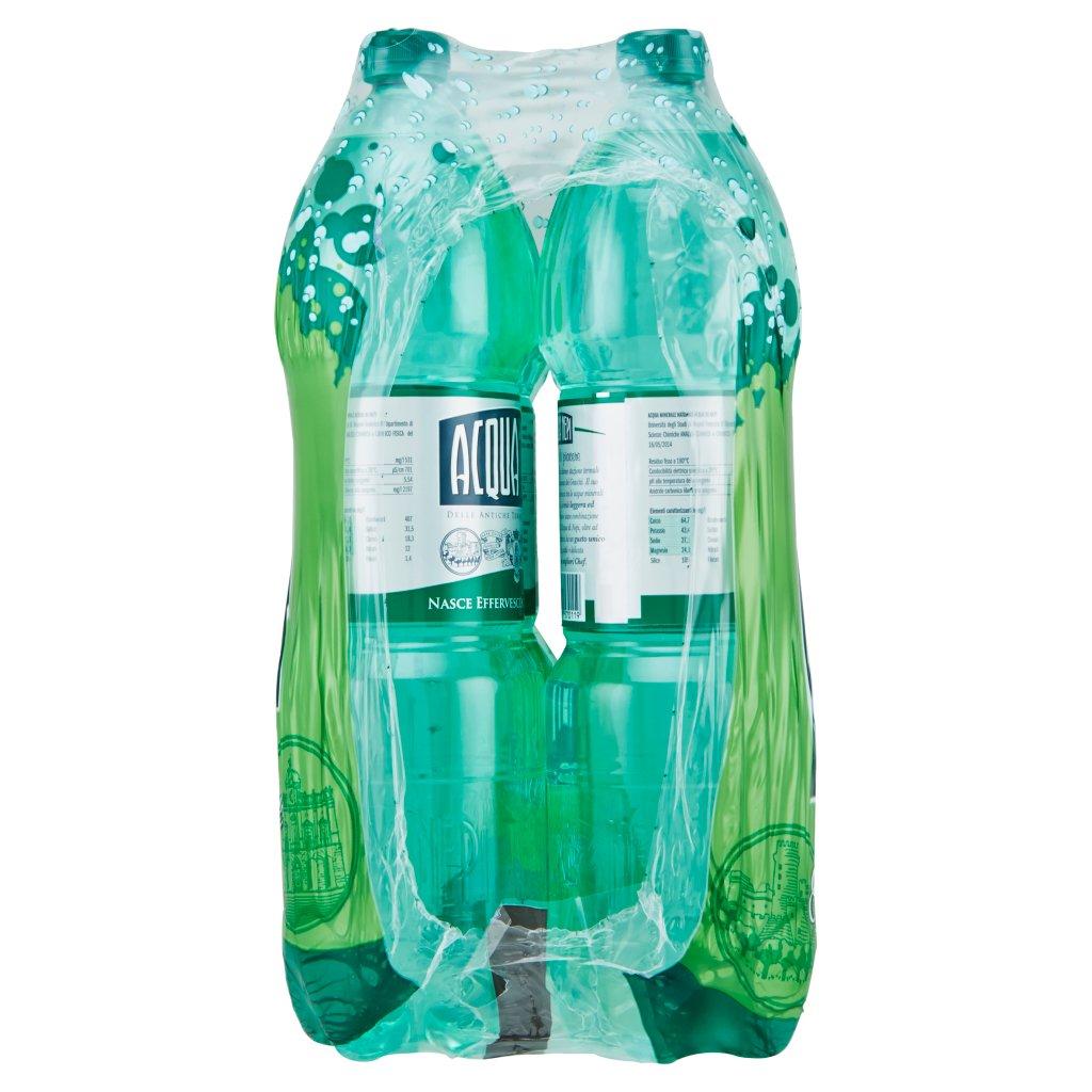 Acqua di Nepi Acqua Minerale Effervescente Naturale Pet 6 x 1,5 l Imballaggio 6 Bottiglie Da 1,5 L 3