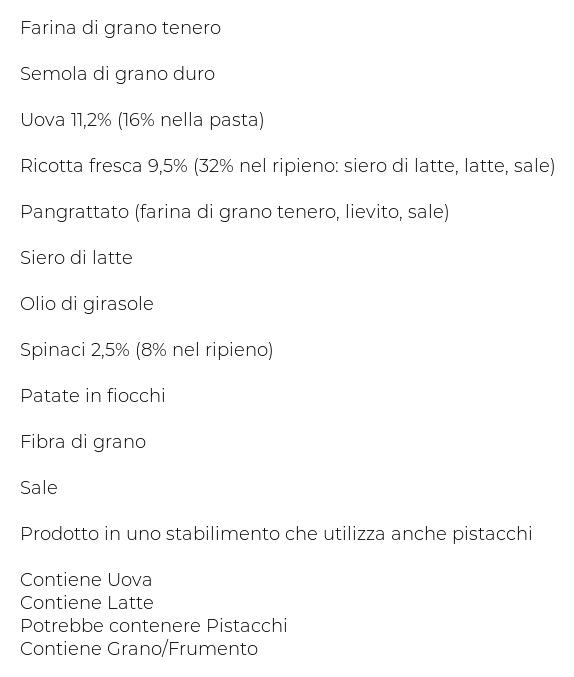 Dalì Ca' Pricci Tortelli con Ricotta e Spinaci
