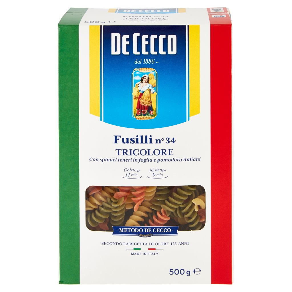 De Cecco Fusilli N°34 Tricolore