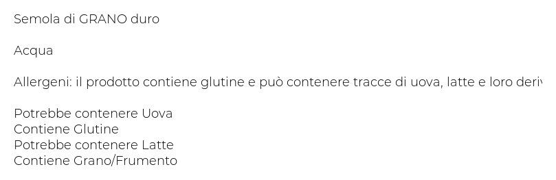 Casa Buratti Pasta Fresca di Semola di Grano Duro Paccheri