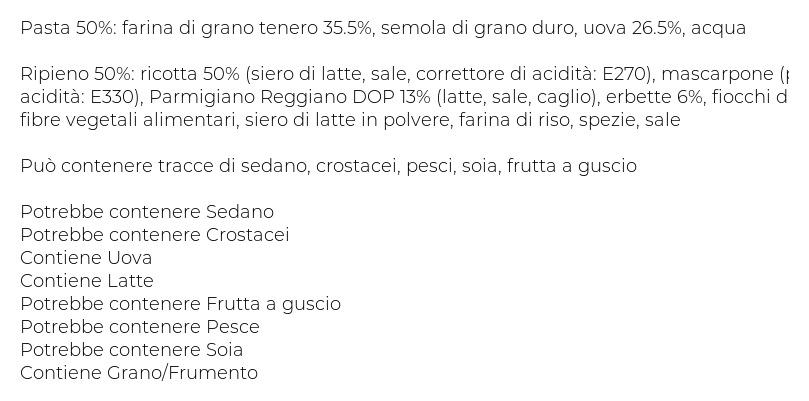 I Tesori Ravioli di Ricotta Ed Erbette