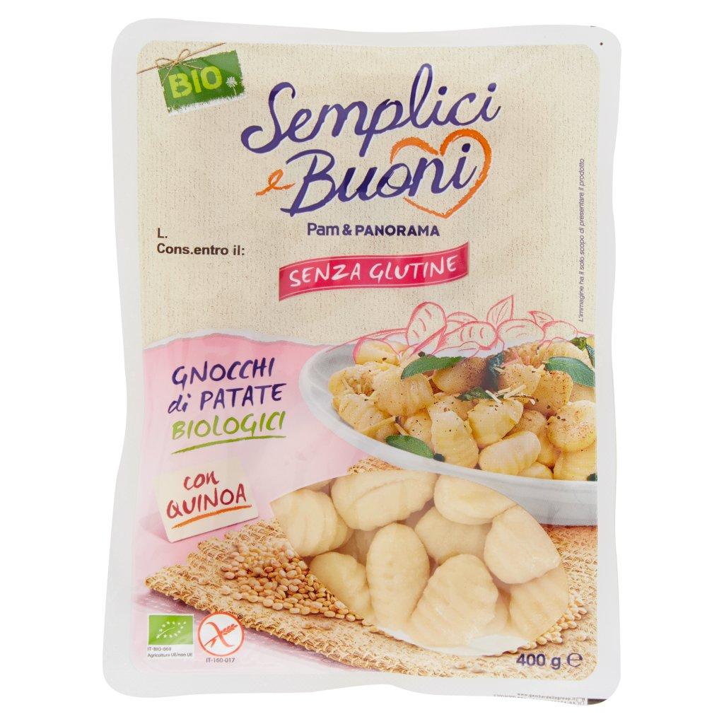 Semplici e Buoni Senza Glutine Gnocchi di Patate Biologici con Quinoa