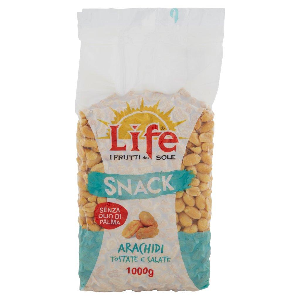 Life Snack Arachidi Tostate e Salate Confezione 1000 G