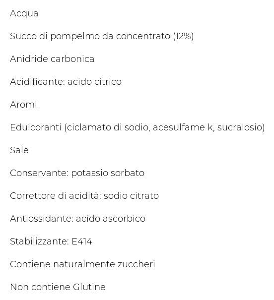 San Benedetto Pompelmo  Zero 0,75 l Pet