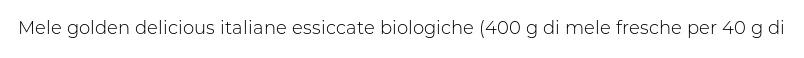 Chini Bio Goldensec Bio Rondelle di Mela Bio Essiccate