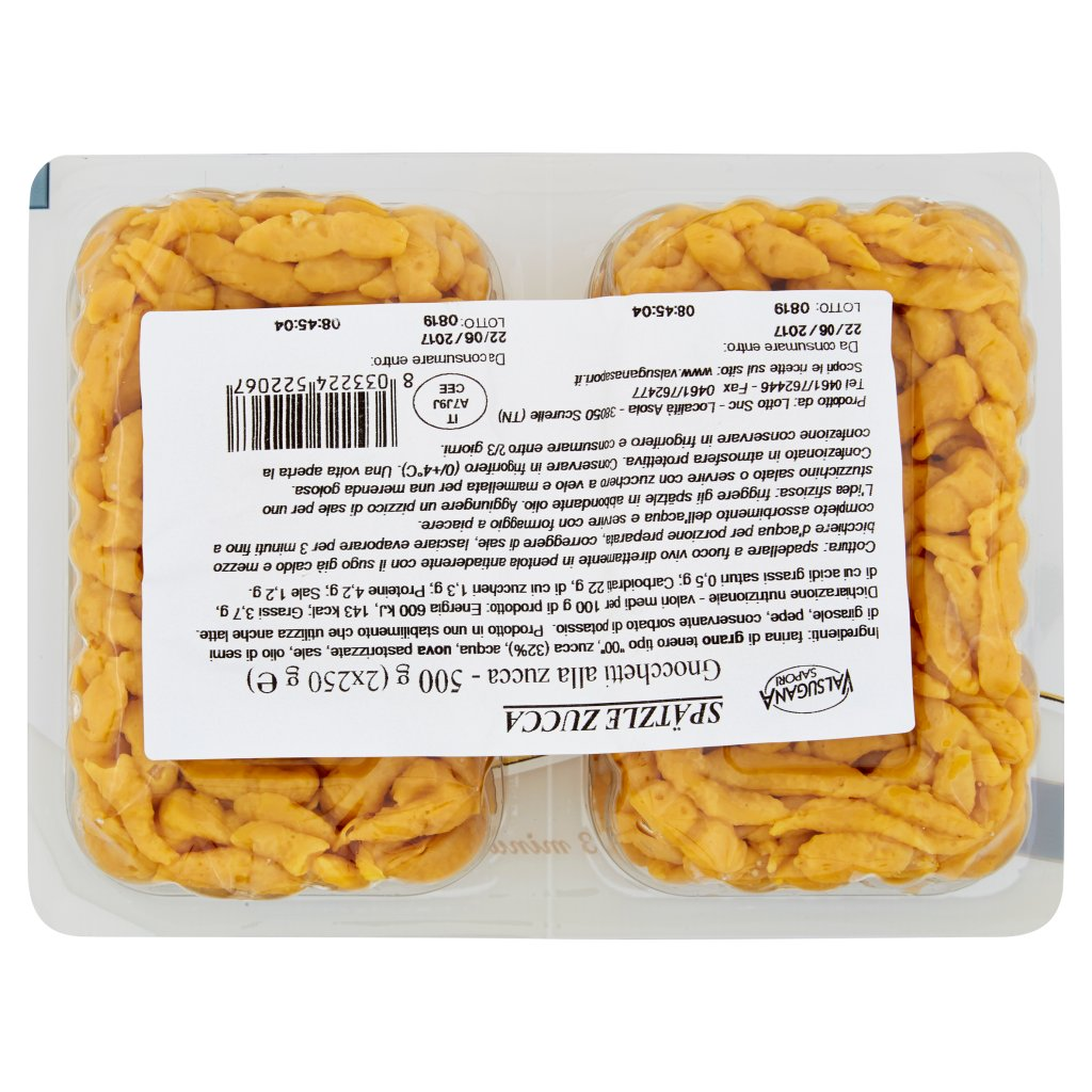 Valsugana Sapori Spätzle Zucca 2 x 250 g