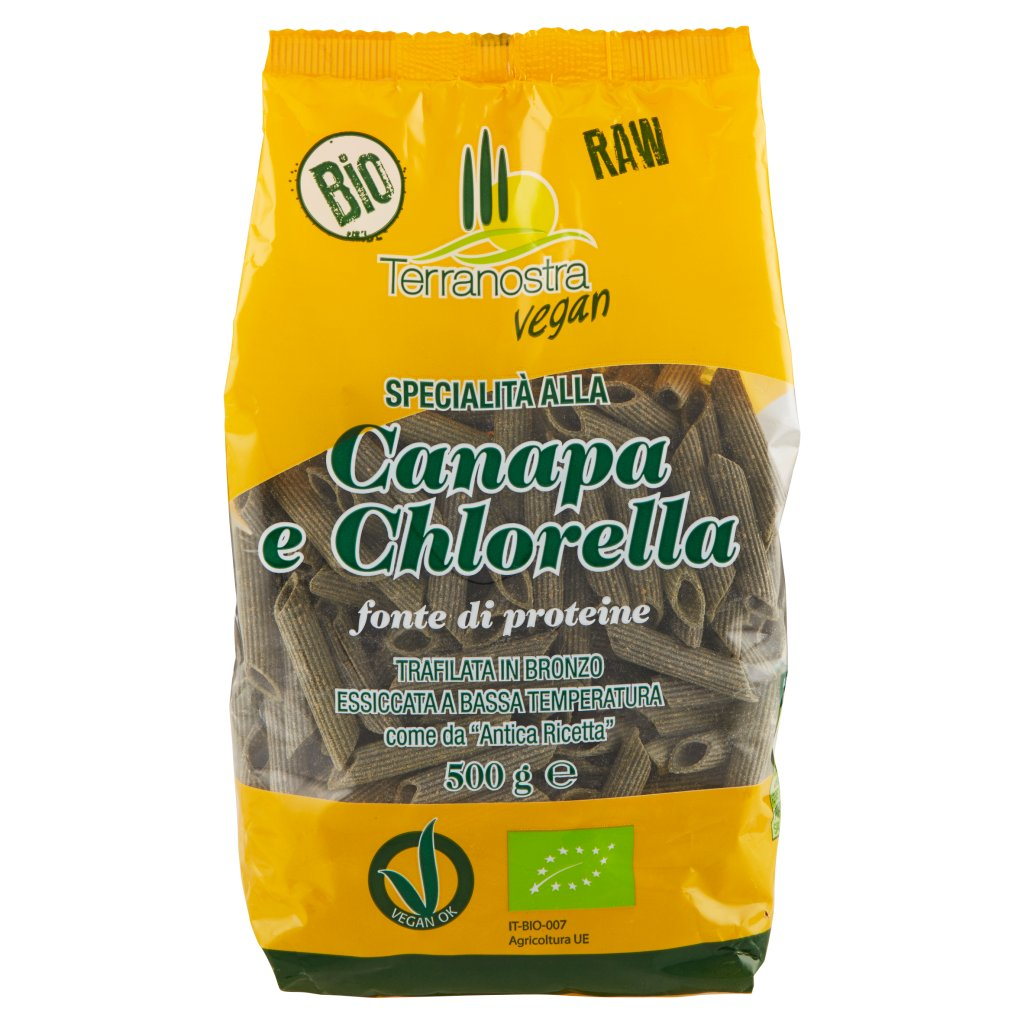Terranostra Vegan Bio Specialità alla Canapa e Chlorella Penne 545