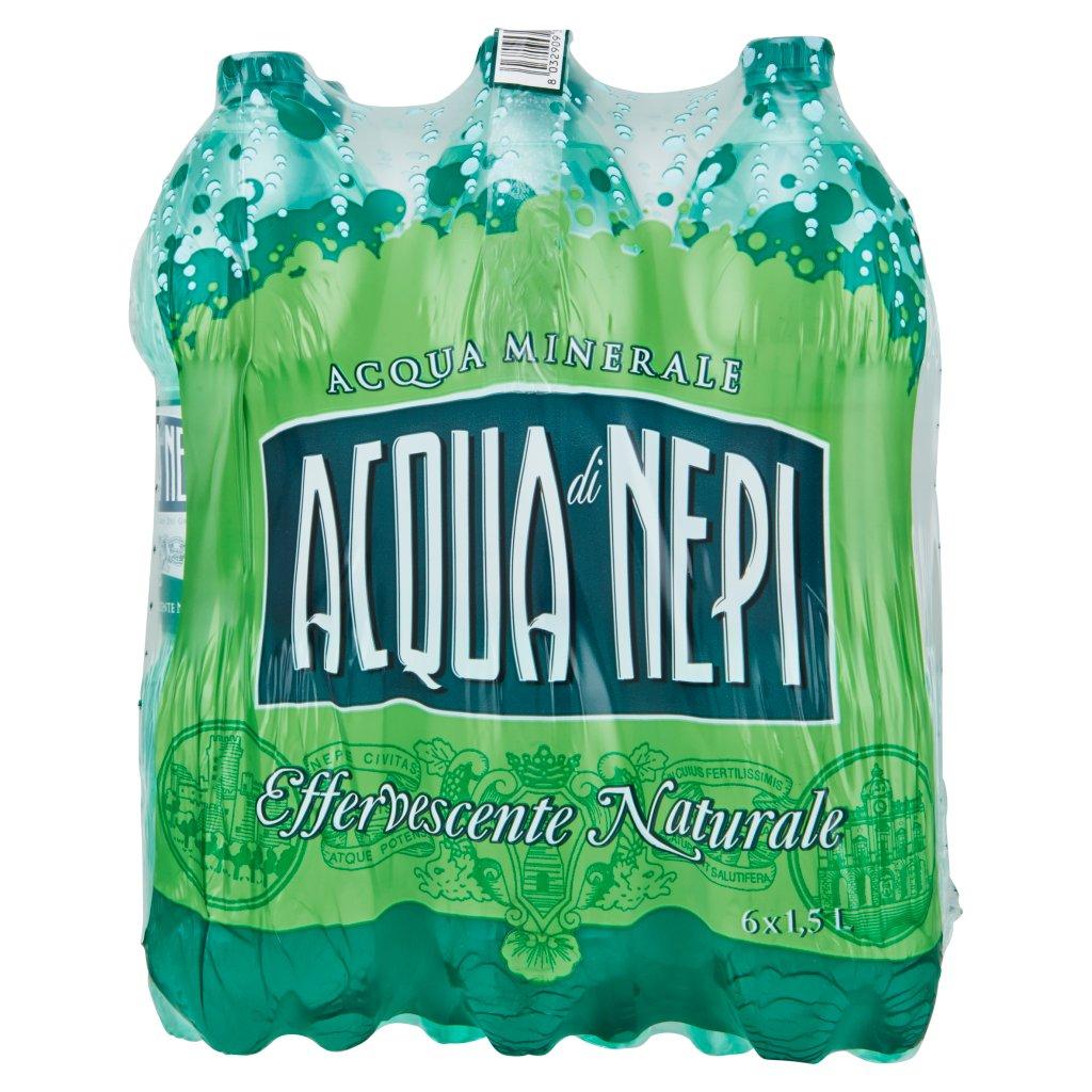 Acqua di Nepi Acqua Minerale Effervescente Naturale Pet 6 x 1,5 l Imballaggio 6 Bottiglie Da 1,5 L 2