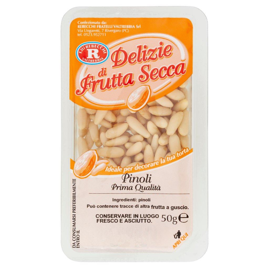 F.lli Rebecchi Valtrebbia Delizie di Frutta Secca Pinoli Prima Qualità Confezione 50 G 1