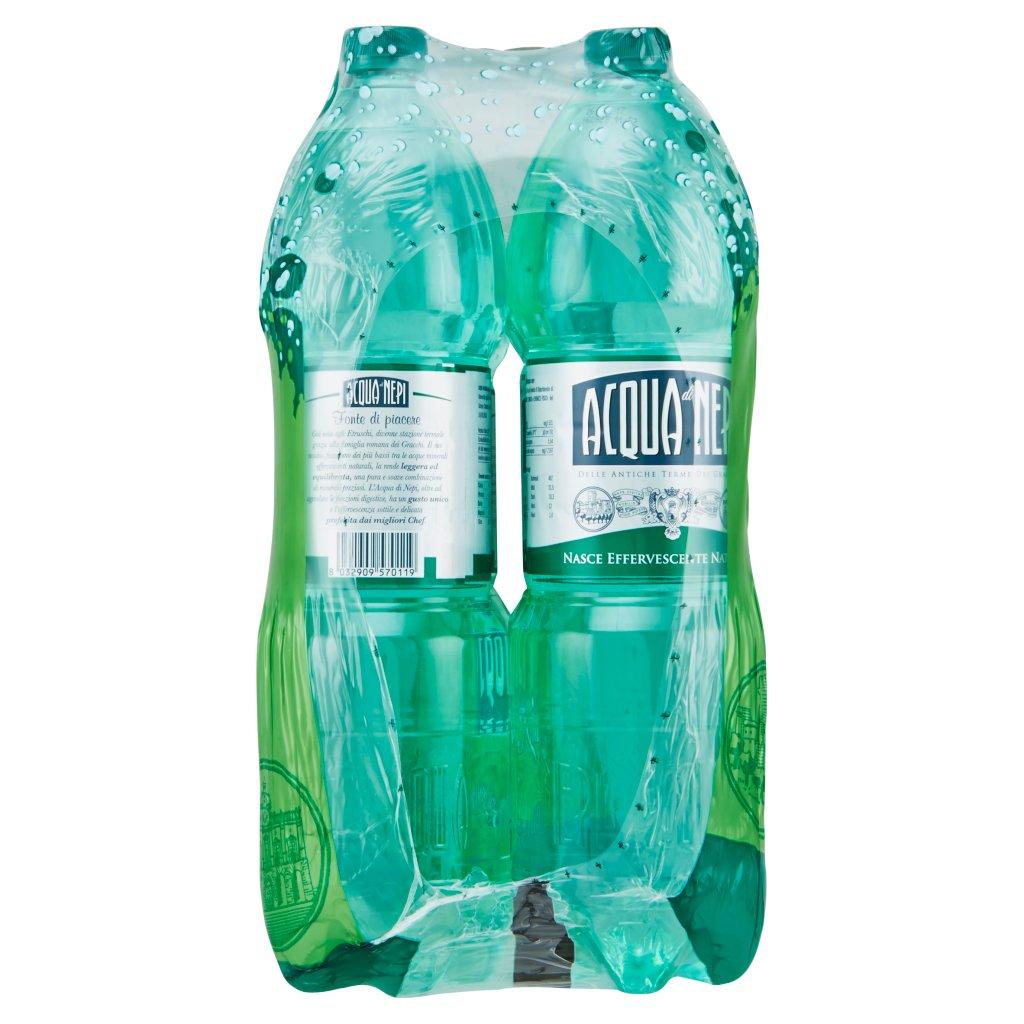 Acqua di Nepi Acqua Minerale Effervescente Naturale Pet 6 x 1,5 l Imballaggio 6 Bottiglie Da 1,5 L 4