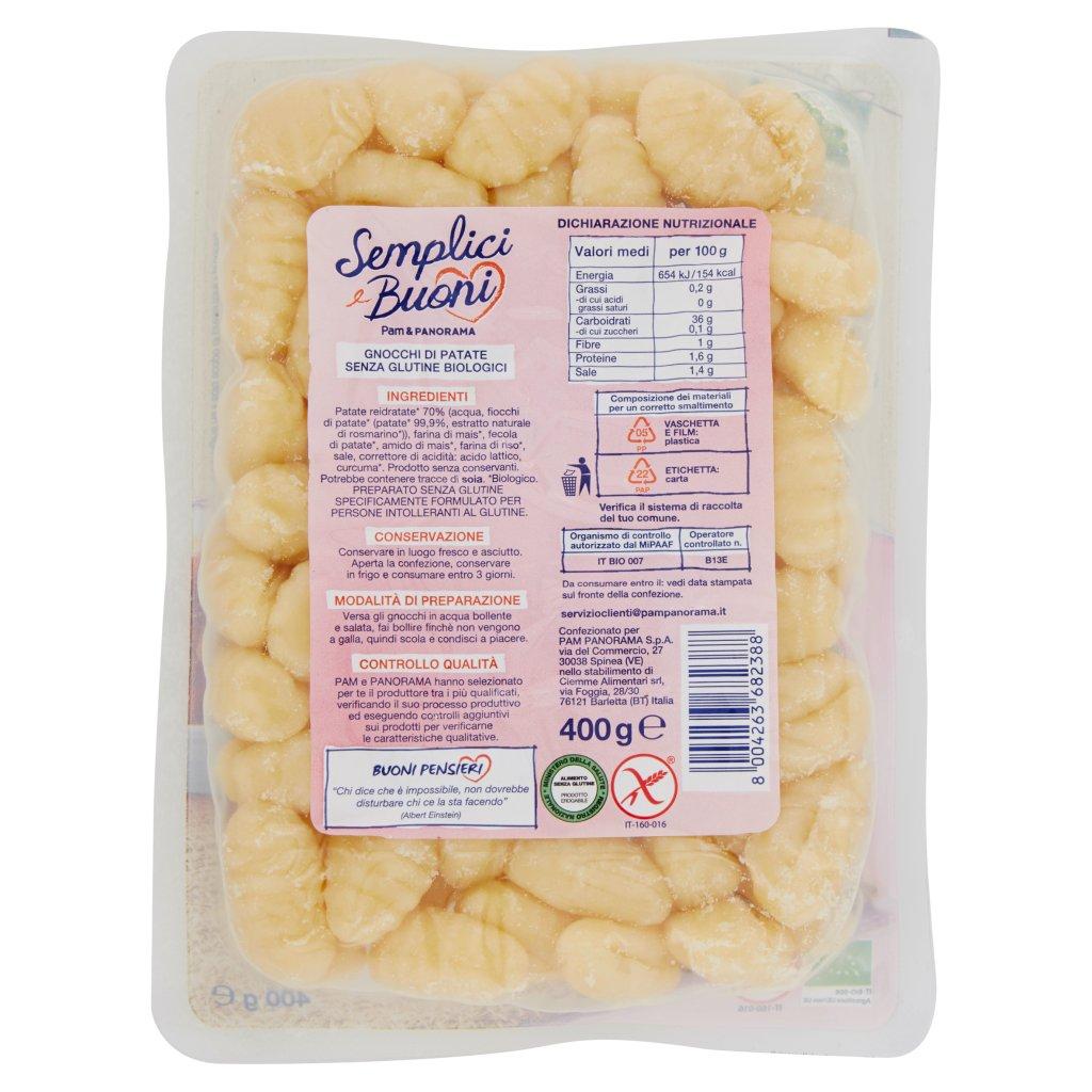 Semplici e Buoni Senza Glutine Gnocchi di Patate Biologici
