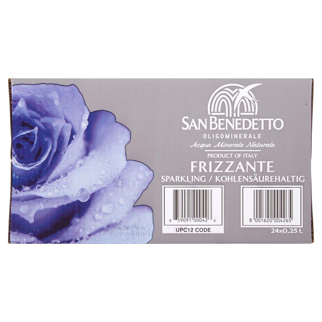 San Benedetto Acqua Minerale Benedicta Prestige Frizzante 24 x 0,25l Vap Confezione 24 Bottiglie Da 0,25 L 2