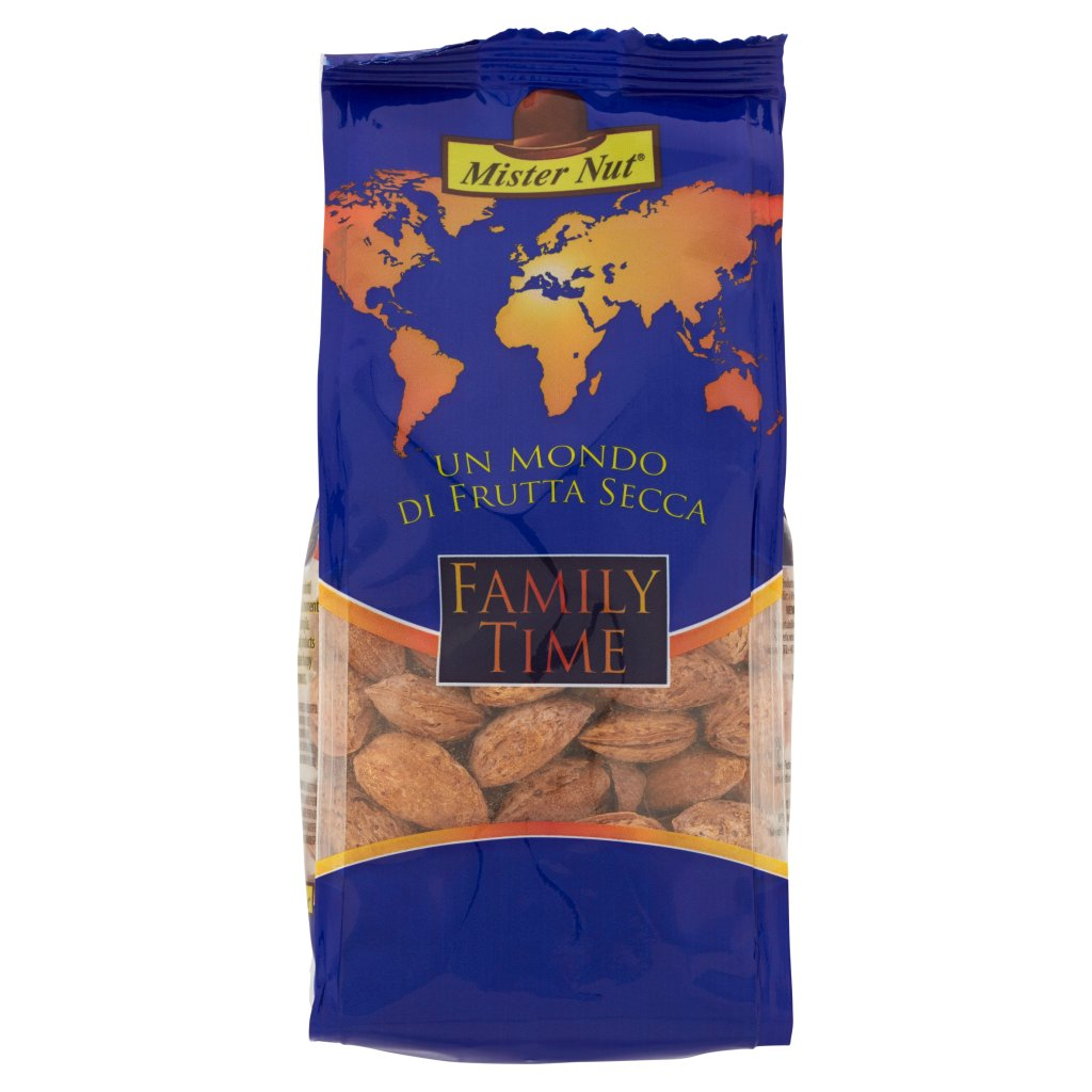 Mister Nut Family Time Mandorle Tostate e Salate in Guscio