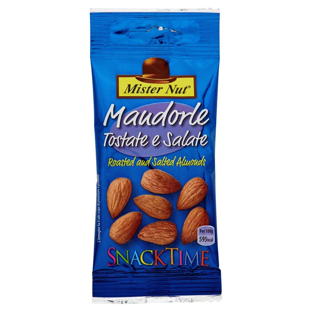 Mister Nut Snack Time Mandorle Tostate e Salate Confezione 25 G 1