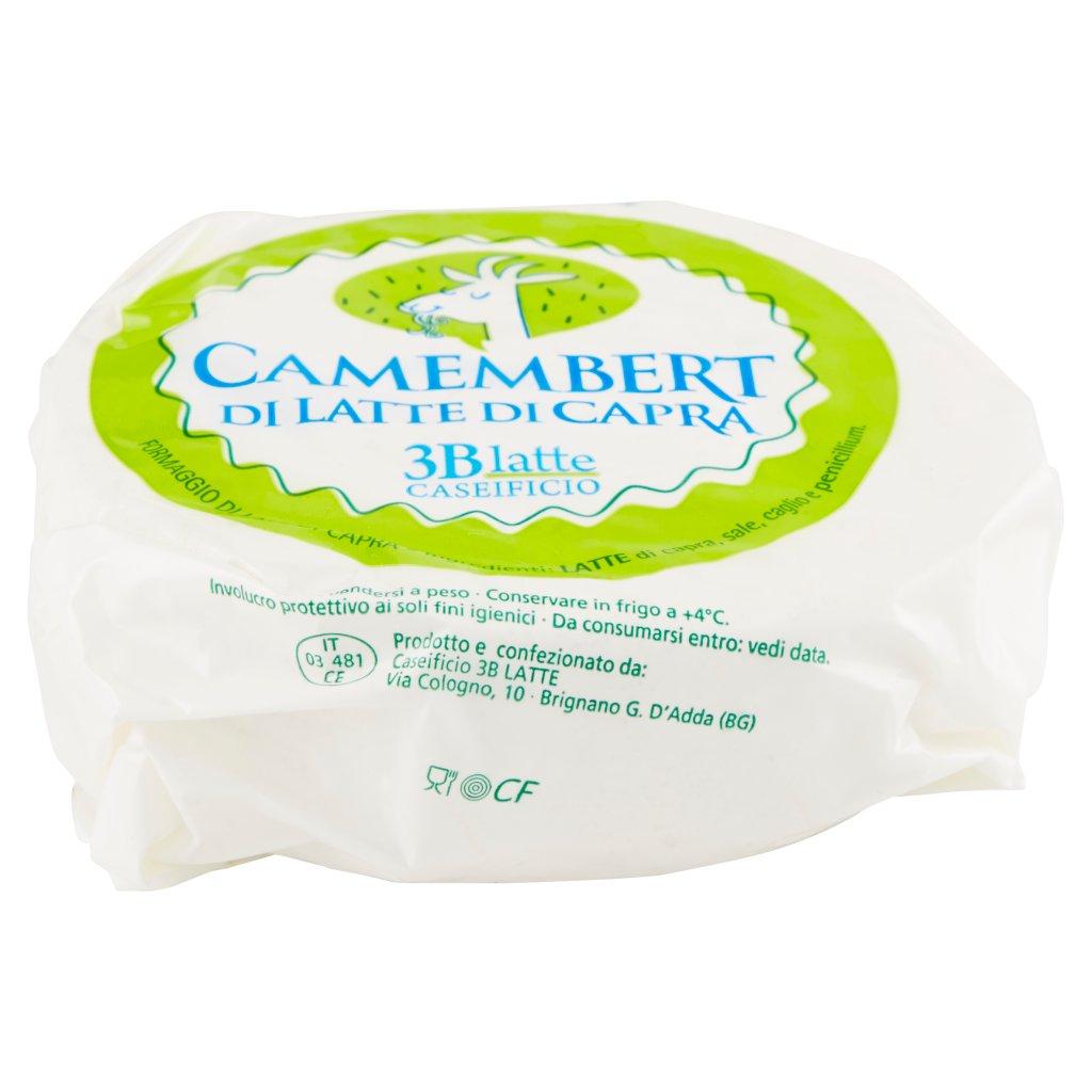 Caseificio 3b Latte Camembert di Latte di Capra 0,250 Kg