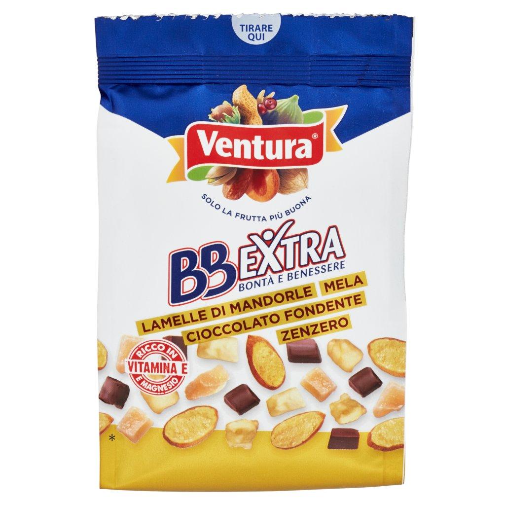 Ventura Bbextra Lamelle di Mandorle Mela Cioccolato Fondente Zenzero Confezione 150 G