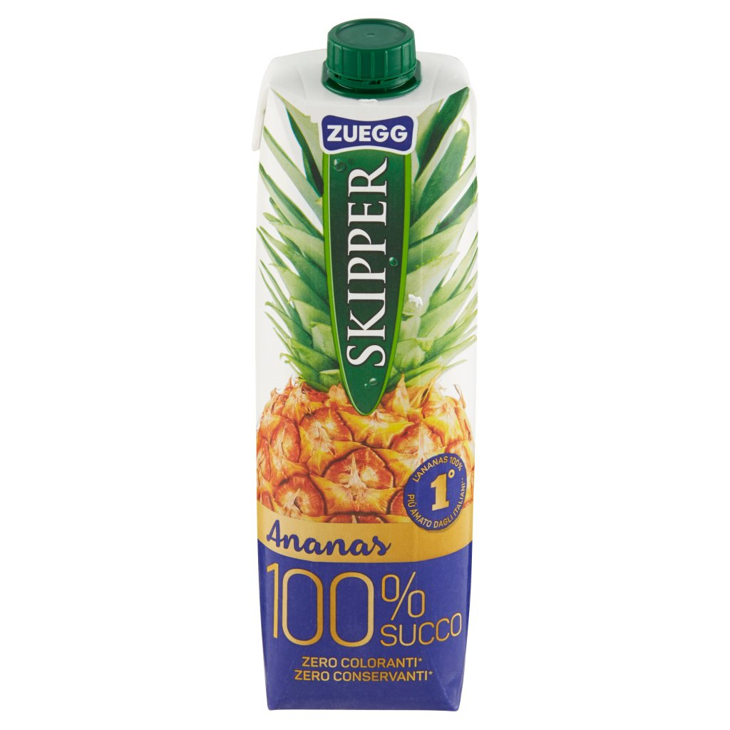 Zuegg Skipper 100% Succo Ananas Confezione 1000 Ml