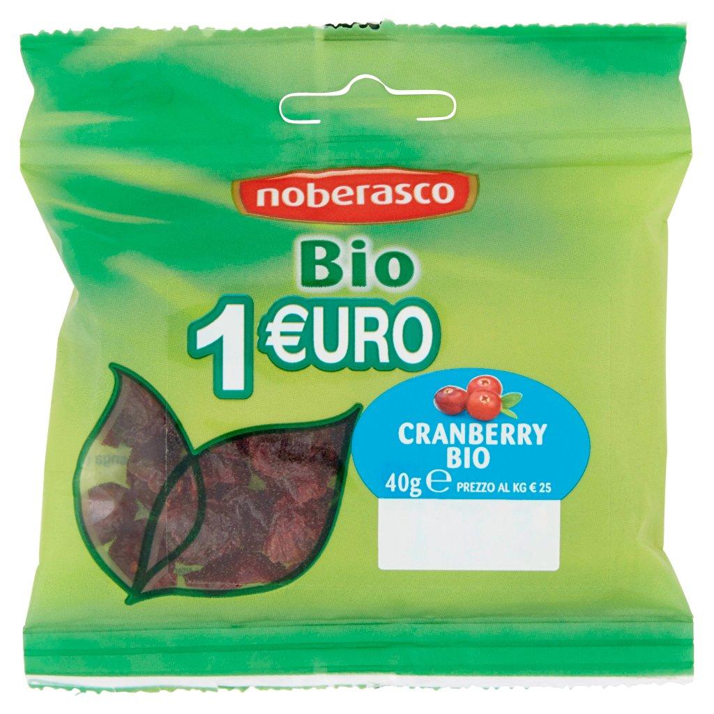 Noberasco 1 €uro Bio Cranberry Confezione 40 G 1