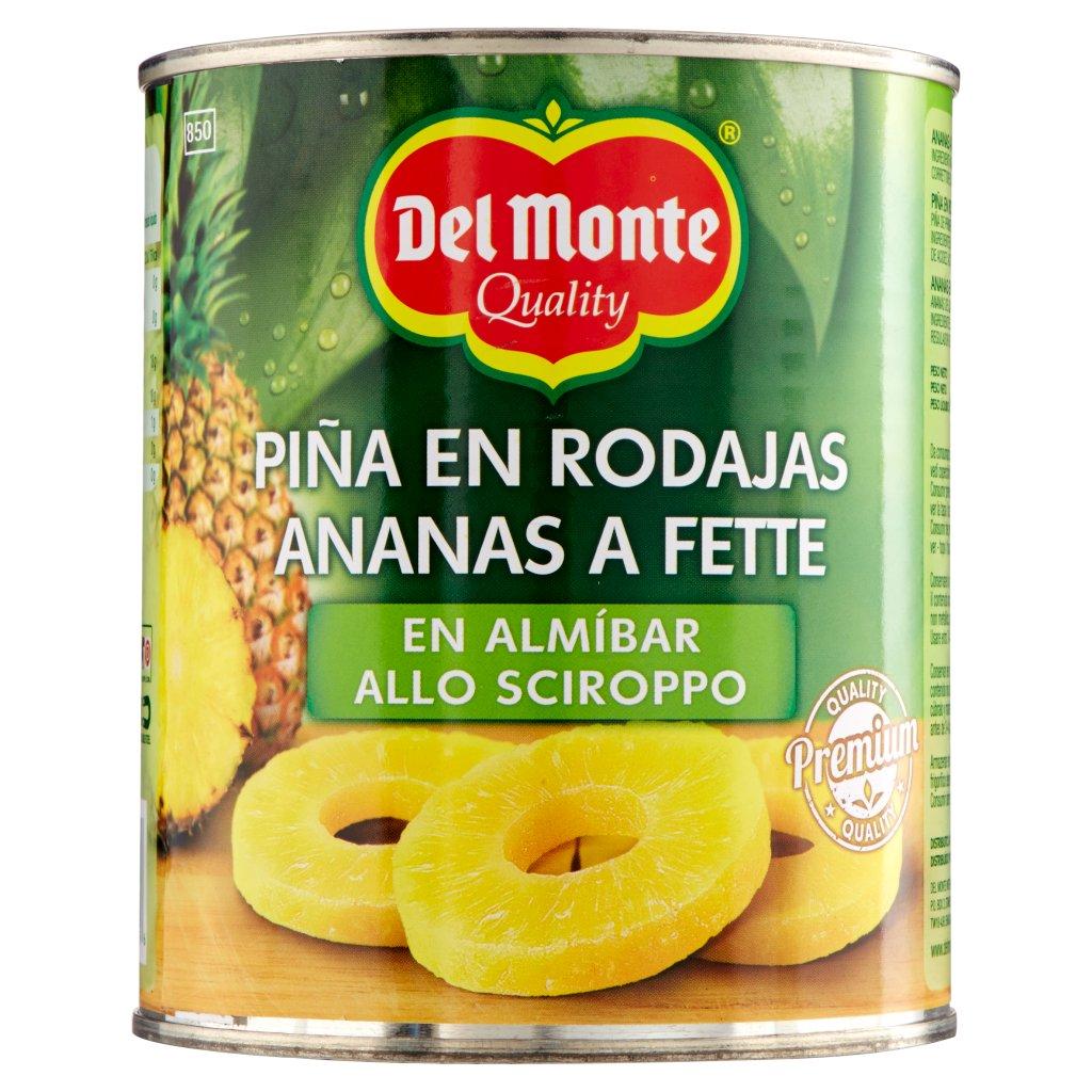 Del Monte Ananas a Fette allo Sciroppo Confezione 840 G 2