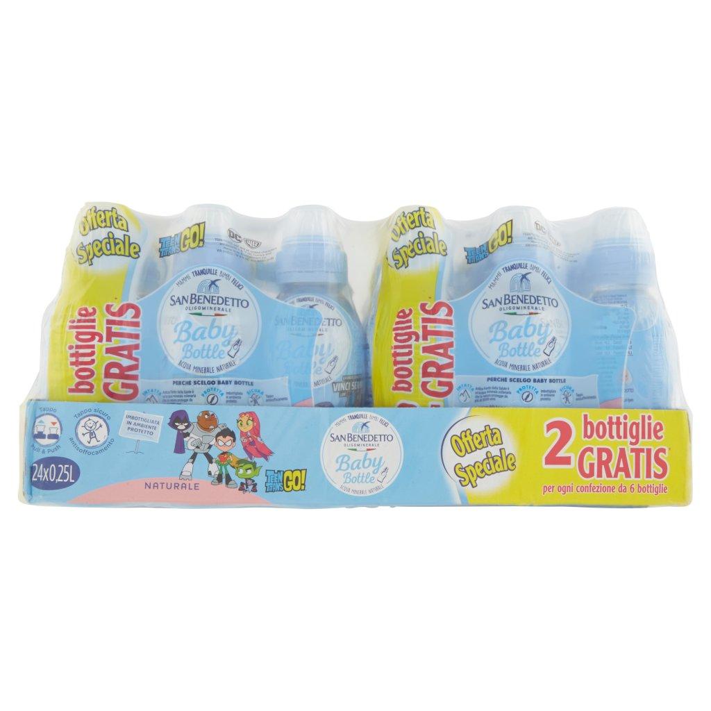 San Benedetto Acqua Minerale Afs Baby Bottle Naturale 0,25l x 24 (4 x 6)