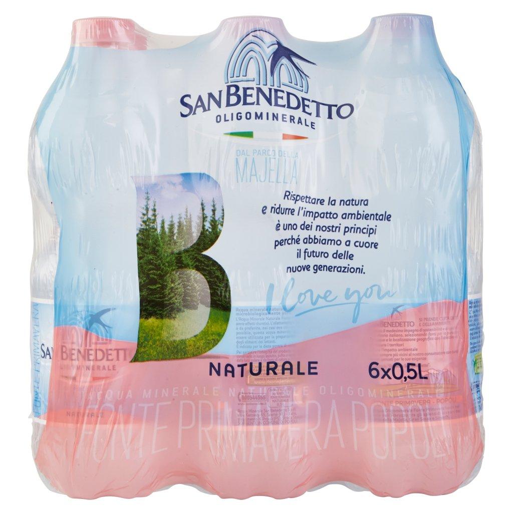 San Benedetto Acqua Minerale dal Parco della Majella Naturale 6 x 0,5 l Imballaggio 6 Bottiglie Da 0,5 L 2