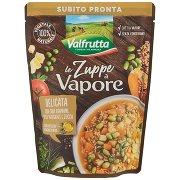 Valfrutta Le Zuppe a Vapore Delicata con Soia Edamame, Riso Integrale e Zucca
