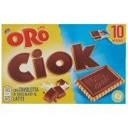 Oro Saiwa Oro Ciok con Tavoletta di Cioccolato al Latte 10 x 25 g