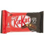 Nestlé Kitkat Dark 70% Wafer Ricoperto di Cioccolato Fondente 70% 3 Snack da 41,5g
