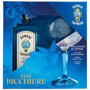 Bombay Sapphire Distilled London Dry Gin  con Bicchiere