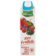 Valfrutta 100% Frullato Fragola Mela Ribes Mirtillo