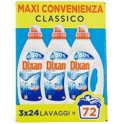 Dixan Liquido Classico 360°- 72 Lav.- Tripack 3x24