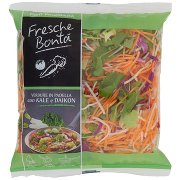 Fresche Bontá Verdure in Padella con Kale e Daikon