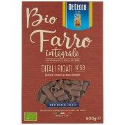De Cecco Bio Farro Integrale Ditali Rigati N°59