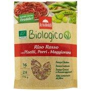 Arnaboldi Biologico Riso Rosso con Piselli, Porri e Maggiorana