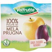 Valfrutta 100% Polpa di Mela Prugna 2 x 100 g